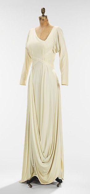 Evening Gown (image 2) | Valentina | 1935 | silk | Metropolitan Museum of Art | Accession #: 2009.300.190