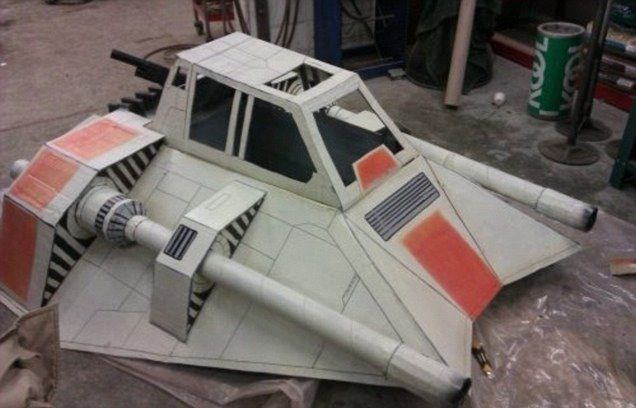 how to make a star wars ship out of cardboard