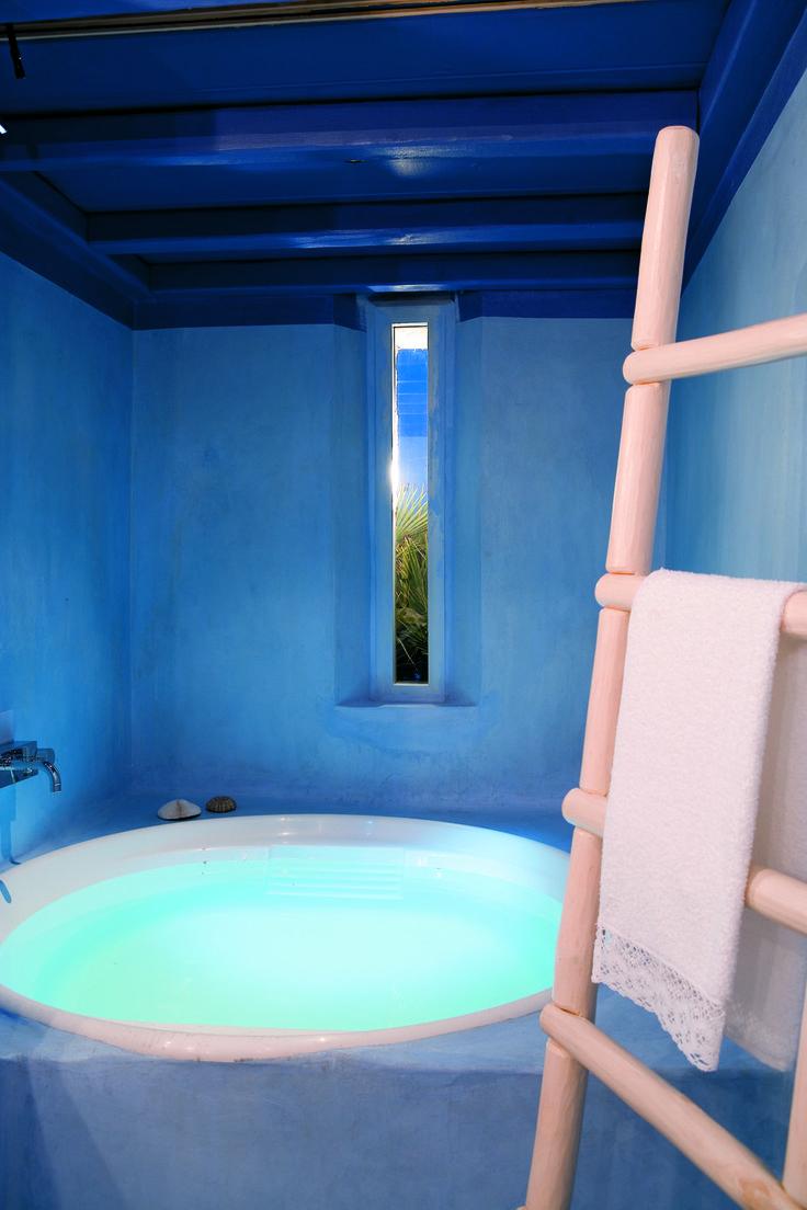A beautiful #bath at the #Mykonos Blu Grecotel Exclusive Resort #Travel
