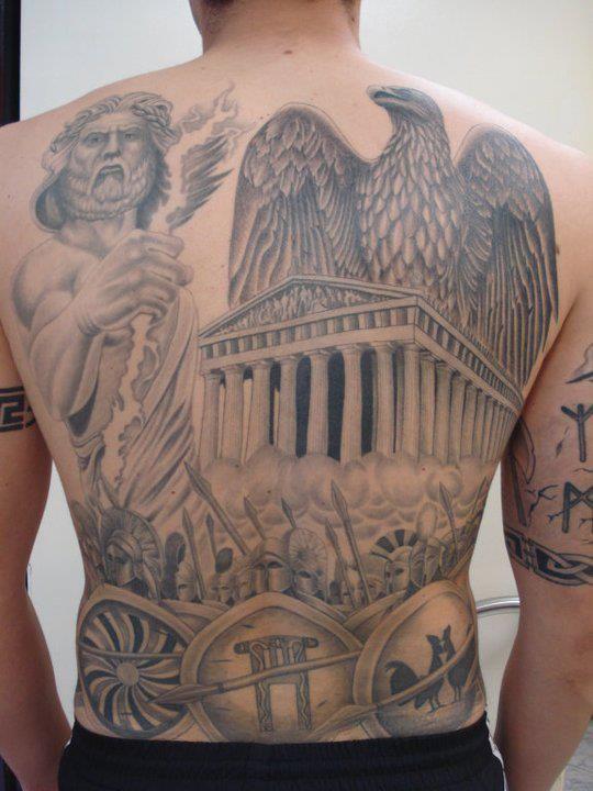 Den græske Mytologi Tatoveringer På Brystet foto - 2