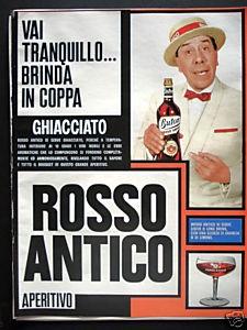 Pubblicita' ROSSO ANTICO APERITIVO 1966