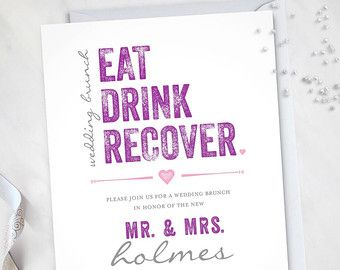 The Morning After Wedding Brunch Invitation by EventswithGrace