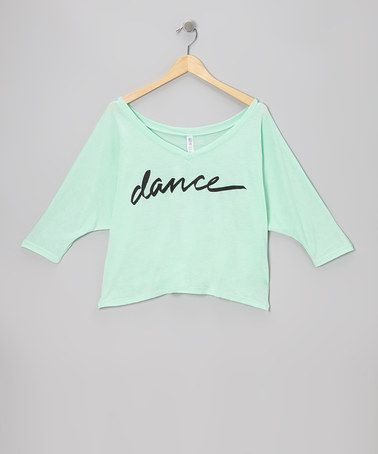 Look what I found on #zulily! Mint 'Dance' Crop Top - Women by Dancewearables #zulilyfinds