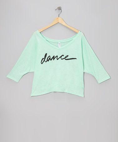 Mint 'Dance' Crop Top - Women by Dancewearables #zulilyfinds