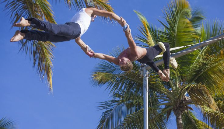 Club Med La Caravelle, Guadeloupe. Activité dans les airs.