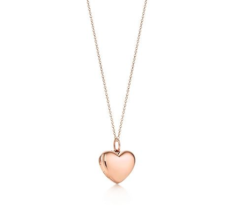 Tiffany & Co. | Item | Heart locket pendant in 18k rose gold, small. | United States