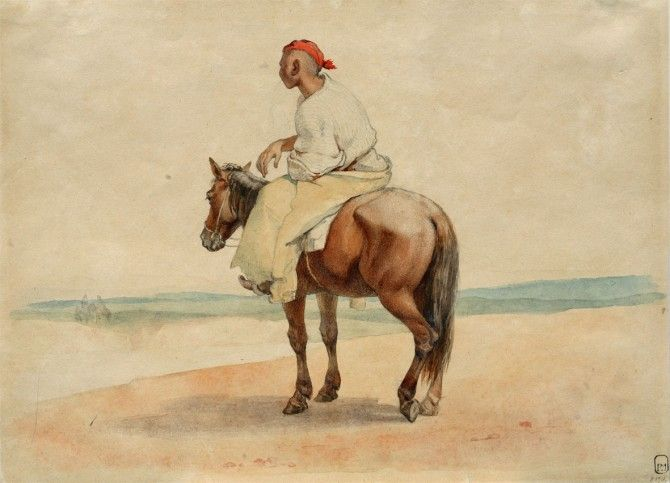 Kazakh Horseman, 1848-9 (Taras Shevchenko National Museum) From: http://www.voicesofny.org/2014/08/honoring-ukraines-greatest-poet-art/
