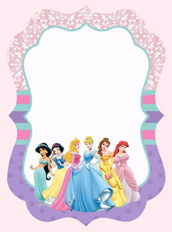 Disney Princesses Invitation Template
