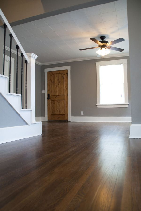 House flipping part 5 floors woods and wood colors - Gray interior paint ...