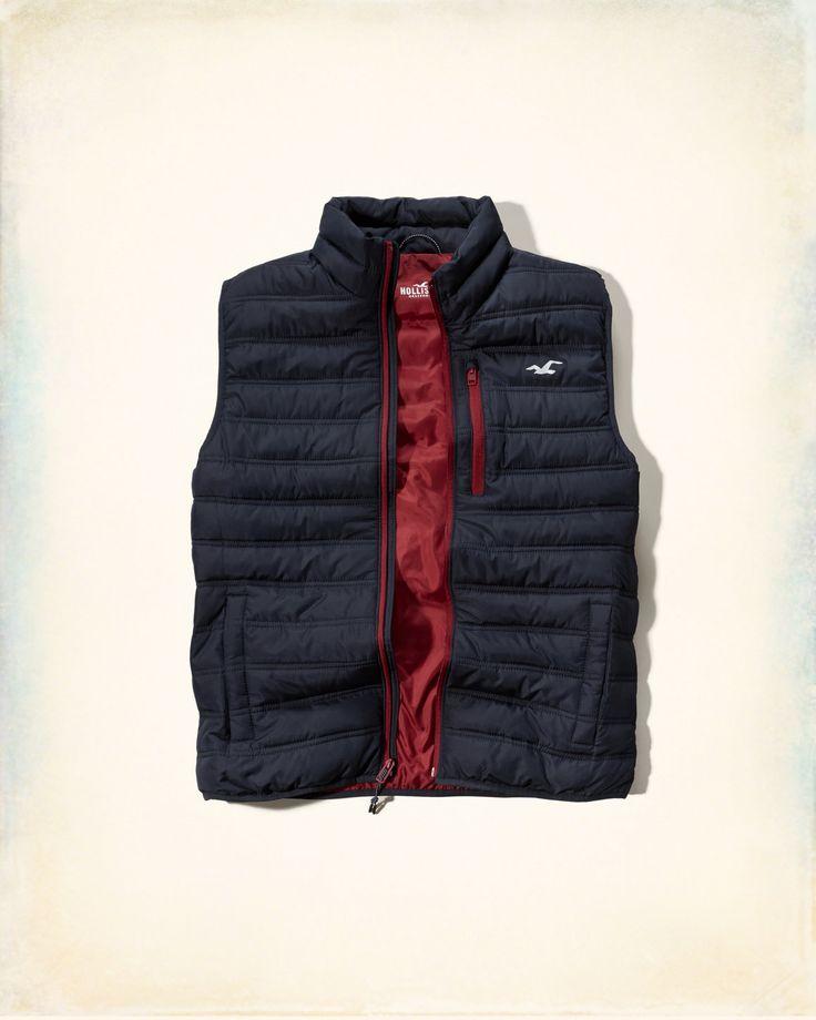Guys Lightweight Puffer Vest   Guys Online Exclusives   eu.HollisterCo.com