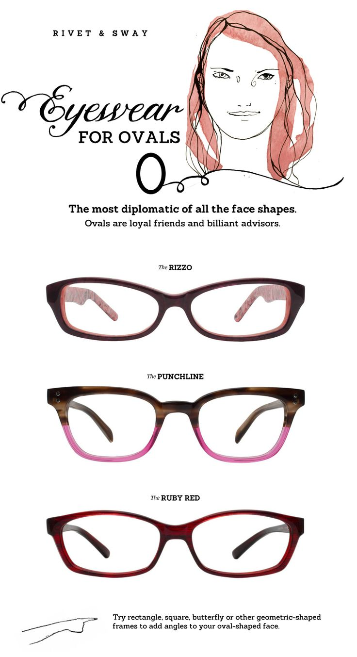 #eyeglasses for oval face shapes from Rivet  Sway