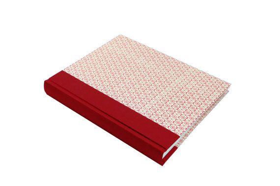 album de mariage blanc rouge format grand portrait 9 x 12 par nauli