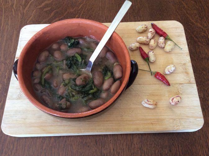 Zuppa+di+fagioli+spulicareddha+e+cicoria