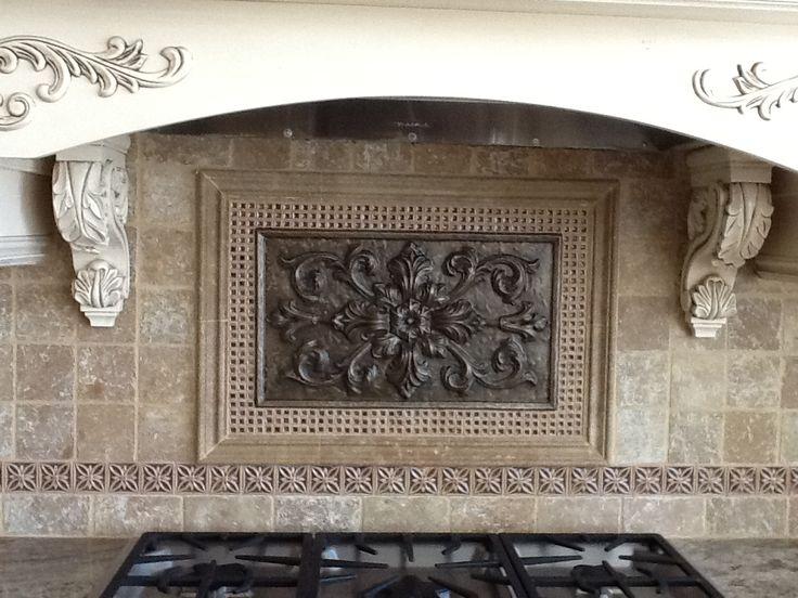 kitchen backsplash tile plaque tile medallion backsplash medallion