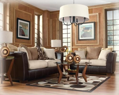 Tan living room light dark brown colored living room for Beige and brown living room ideas