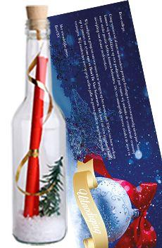 Flessenpost - Kerstkaarten en originele uitnodigingen voor het kerstfeest of kerstreceptie... #originele #uitnodiging #diy #invitations #event #personeelsfeest  #kerstfeest #zakelijk #personaliseren