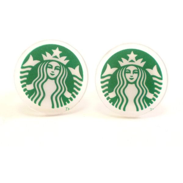 Starbucks Earrings ($9.95) ❤ liked on Polyvore featuring jewelry, earrings, hand crafted jewelry, lightweight earrings, surgical steel earrings, handcrafted jewelry and surgical steel jewelry