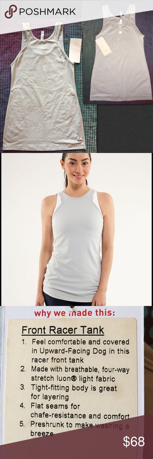 Online color invert picture - Nwt Lululemon Front Racer Tank 6 Silver Covered Modesty In This Front Racer Tank Made From