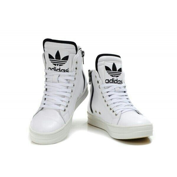 New Adidas Originals big tongue high top men's shoes white black on  sale,for Cheap