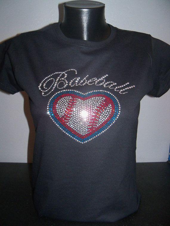 Baseball Love Bling Shirt by flashyexpressions on Etsy, $16.99