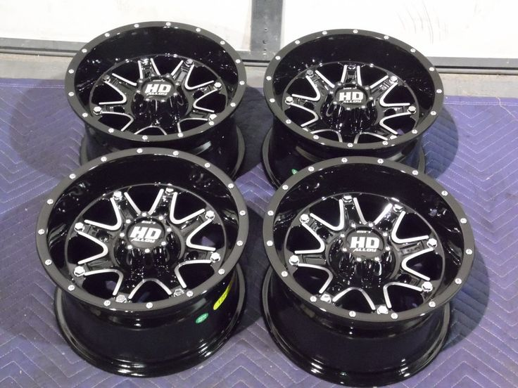 "12"" POLARIS SPORTSMAN 500 ALUMINUM ATV WHEELS NEW SET 4 - LIFETIME WARRANTY T4"
