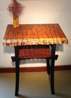 www.ortizstudios.com --- African wood called Bubinga top and Wenge base -- beautiful combination of woods!