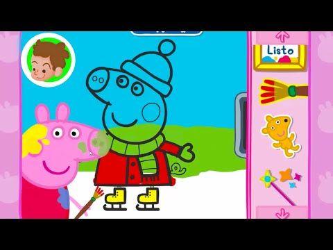 Peppa Pig Pintando Juego de Peppa Pig dibujo de peppa / Drawing Peppa Pig - YouTube