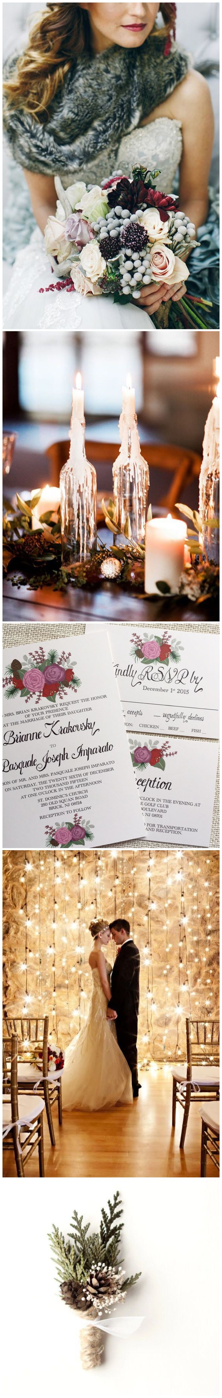 Berry purple and deep red floral wedding invitation perfect for a winter wedding. Color customization available for this design from Behold Designz.