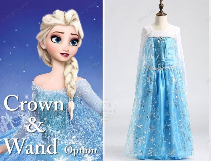Elsa costume Frozen costume size 4 5 6 7 8 Frozen Birthday