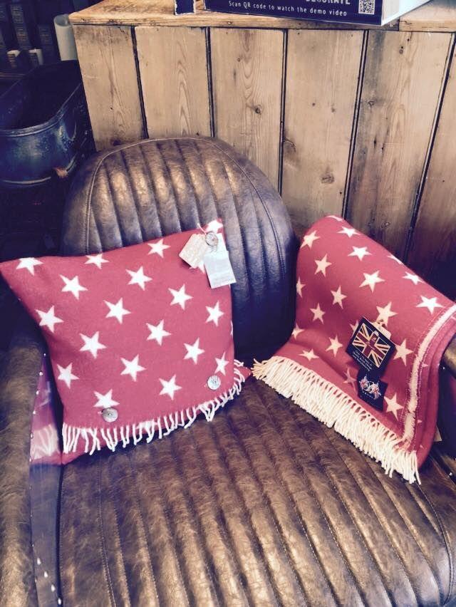 Lambswool throw and cushion. #stars #wool