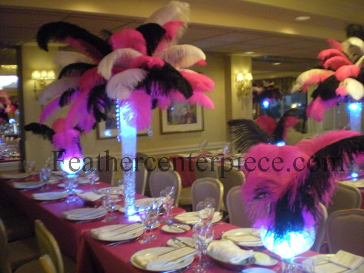 Purple Divas Party Feather Centerpieces Are Perfect For A Sweet Six Birthday Birthdays In 2019 16 Parties