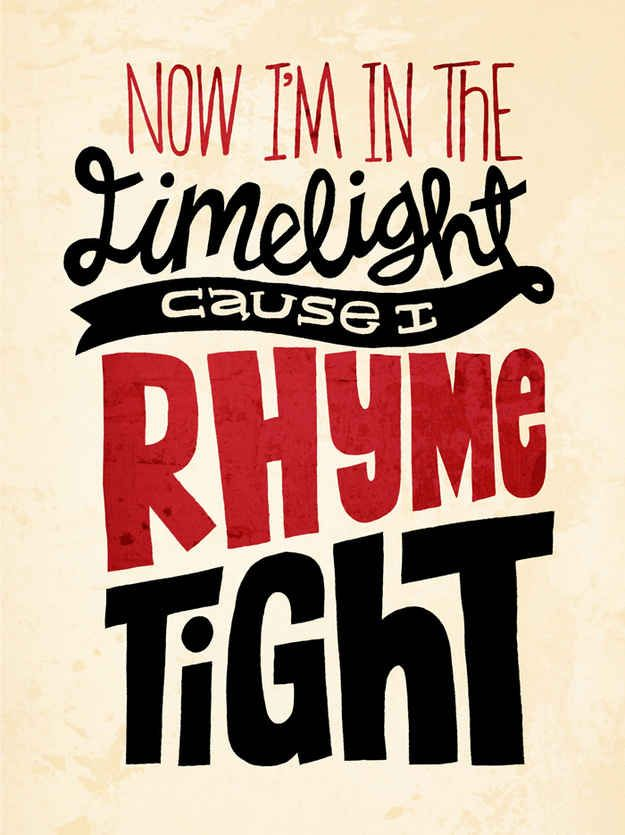 "Amazing Typography Images Of Notorious B.I.G.'s ""Juicy"" Lyrics by Jay Roeder"