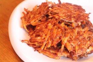 Sweet Potato Cinnamon Hashies and other Paleo breakfast recipes on MyNaturalFamily.com #paleo #recipe