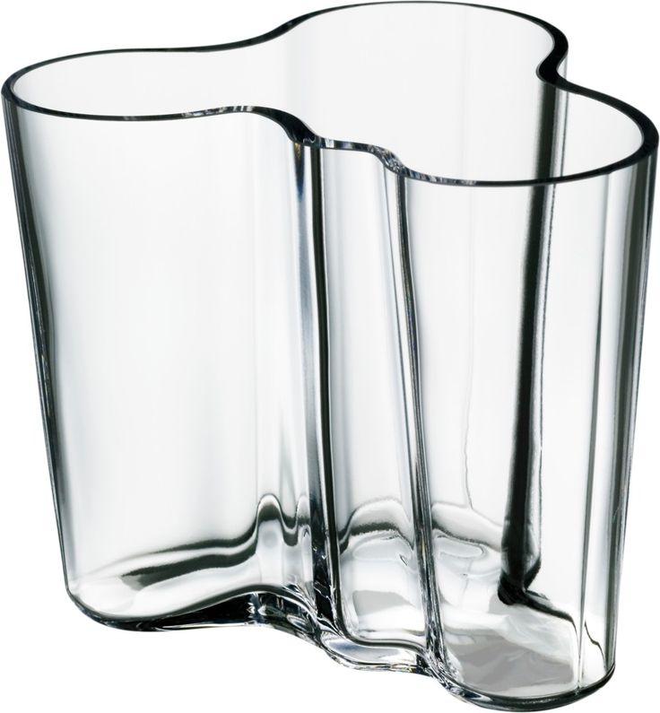 Iittala - Alvar Aalto -kokoelma Maljakko 95 mm kirkas - store.iittala.fi finnish design vase collection