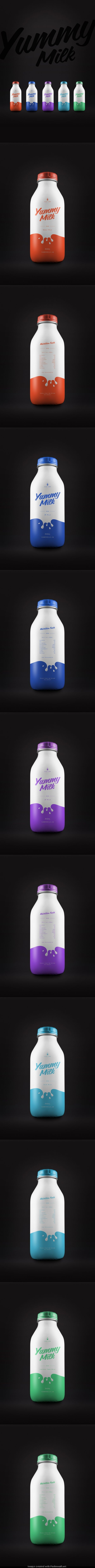 YUMMY MILK by simon spring, via Behance *** #package #packagedesign #behance