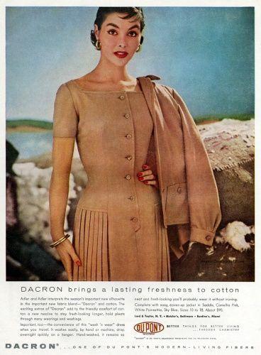 450 best images about Vintage Fashion Images on Pinterest ... Dacron 1954