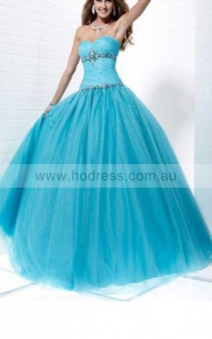 Ball Gown Sweetheart Floor-length Organza Natural Formal Dresses gt2075--Hodress