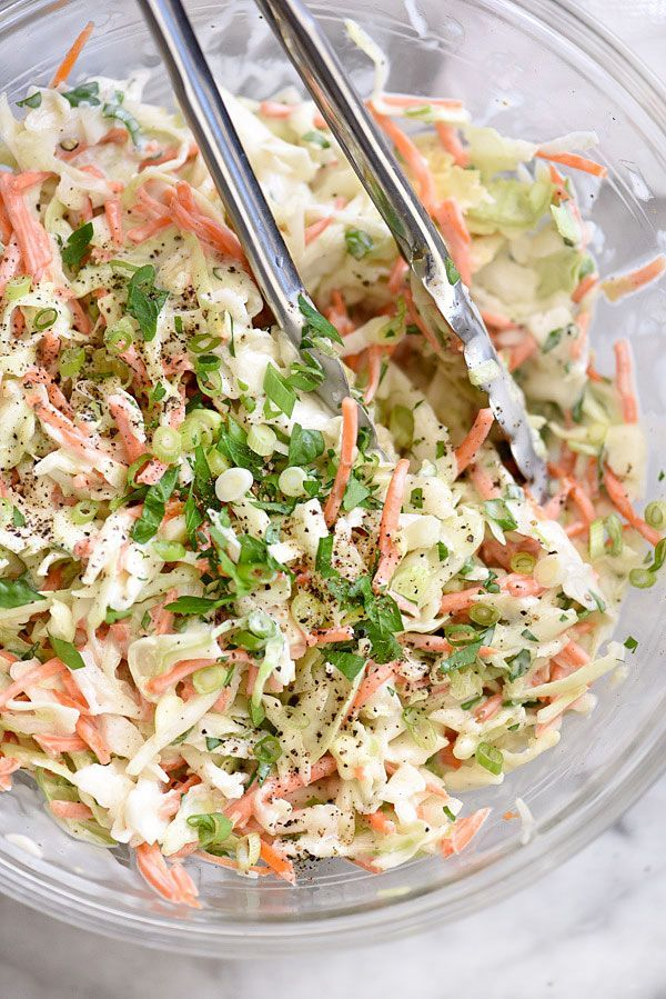 How to Make the Best Creamy Coleslaw   FoodieCrush.com