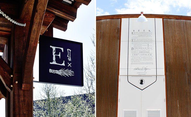 Interior Details and Signage for Edmund's Oast