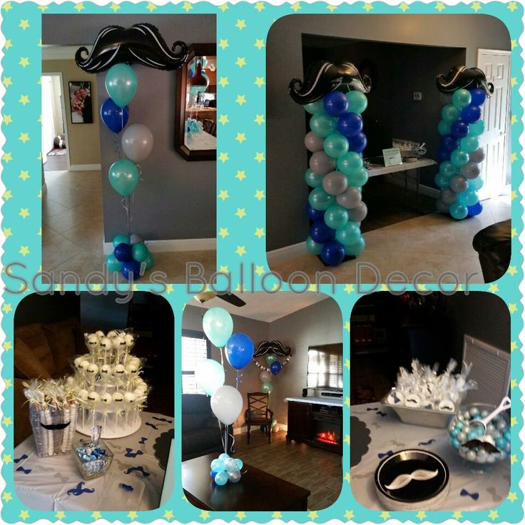 Little Man Baby Shower, Mustache And Bow Ties