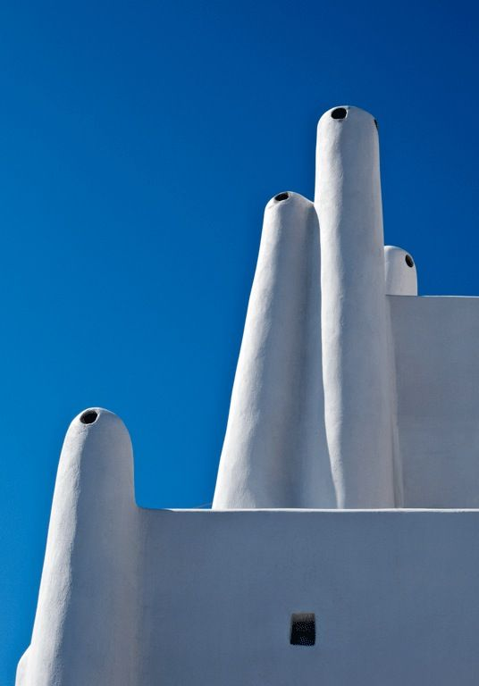 Chimneys Detail, Cob, White, Holidays, Veranda, Outdoor, Santorini