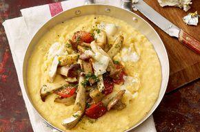Frische Kräuterseitlinge kombiniert mit italienischer Polenta sind ein Hochgenuss! So bereiten Sie das Gericht perfekt zu!