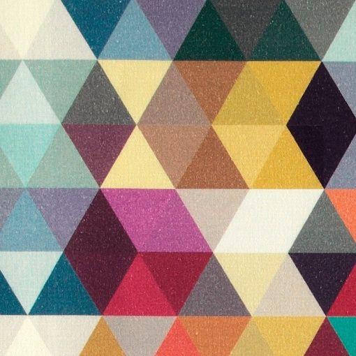 Børstet bomull m trekanter klare farger