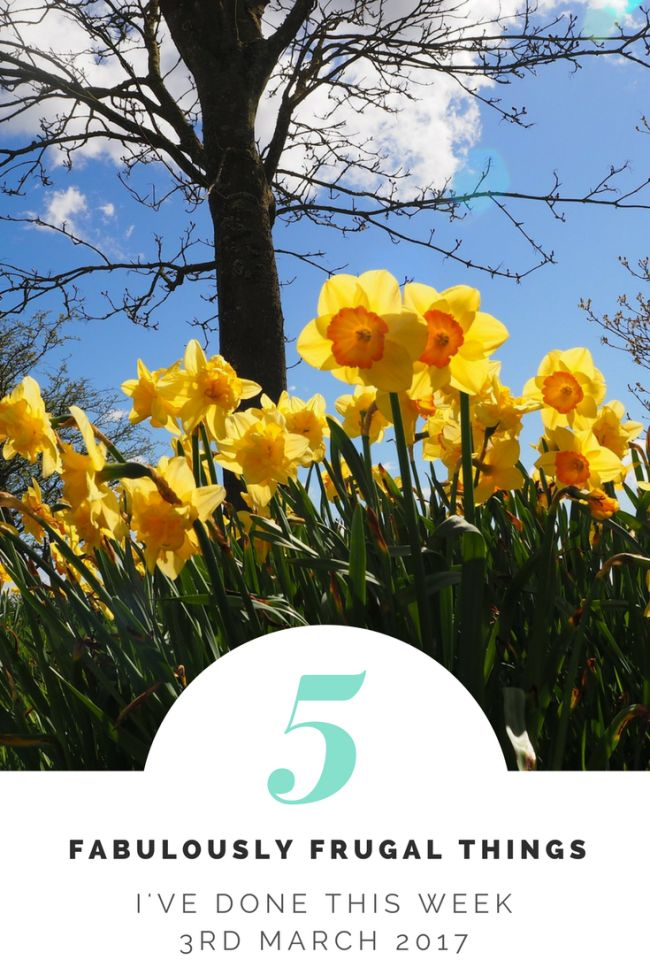 Five Fabulously Frugal Things I've Done This Week - 3rd March 2017