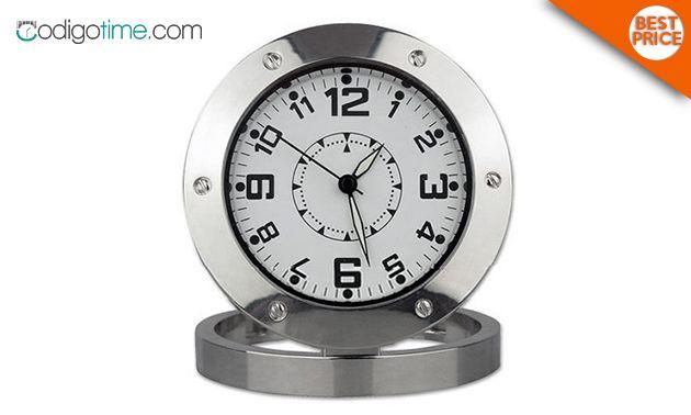 Reloj decorativo de acero inoxidable ¡con grabación de vid