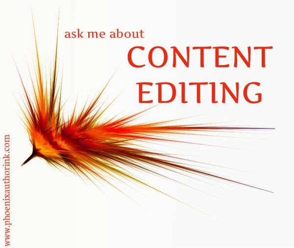 ask me about content editing services! heatherhildenbr@gmail.com www.phoenixauthorink.com