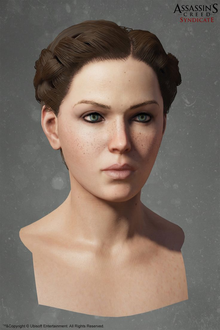 assassin's creed syndicate Evie frye Head , Alexis Belley on ArtStation at https://www.artstation.com/artwork/ndz8O