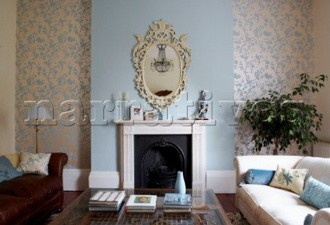 Oriental Garden wallpaper in Duck Egg from Laura Ashley - going to do our bedroom in this