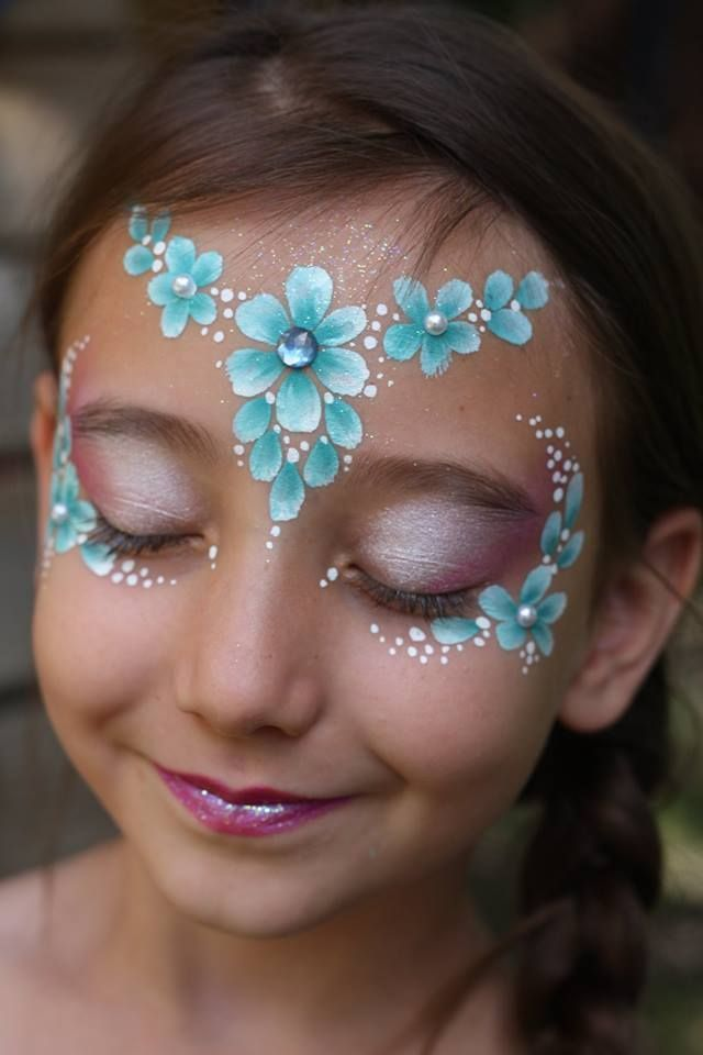 Nadine's Dreams Face Painting – Photo Gallery Flowers eye design + crown