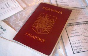 model de pașaport